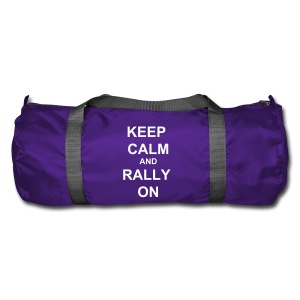 Keep Calm Holdall - Purple / White - Duffel Bag