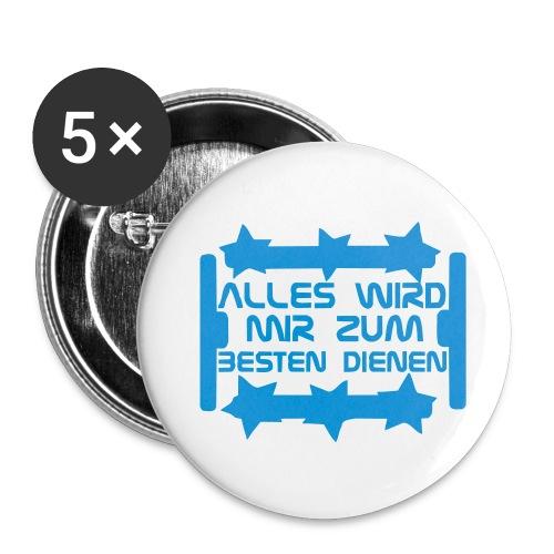 Alles wird zum Besten dienen - Sticker - Buttons klein 25 mm (5er Pack)