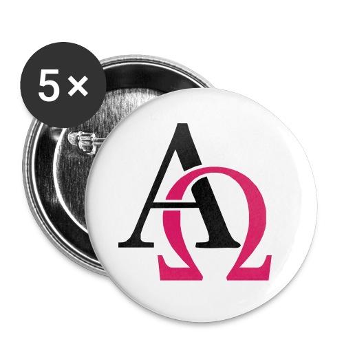 Alpha & Omega - Sticker - Buttons klein 25 mm (5er Pack)