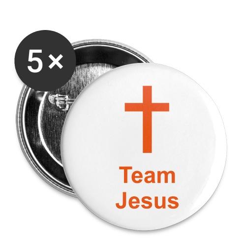 Team Jesus - Sticker - Buttons klein 25 mm (5er Pack)