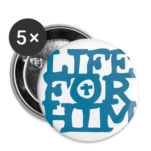 Life 4 Him - Sticker - Buttons klein 25 mm (5er Pack)