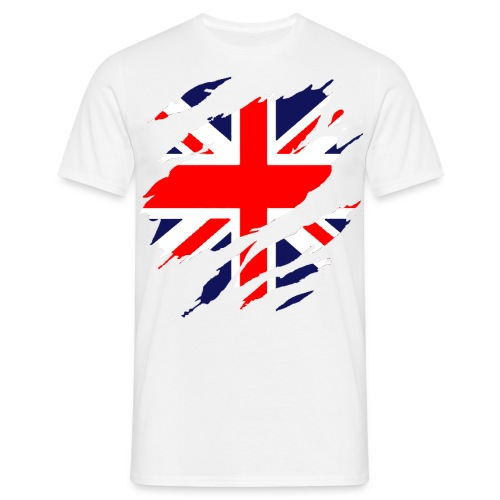 Men's T-Shirt - T-Shirt with Torn Effect Union Jack Flag