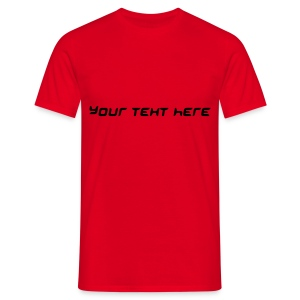 Personalised Text: Top-Selling Men's T-Shirt Red - Men's T-Shirt