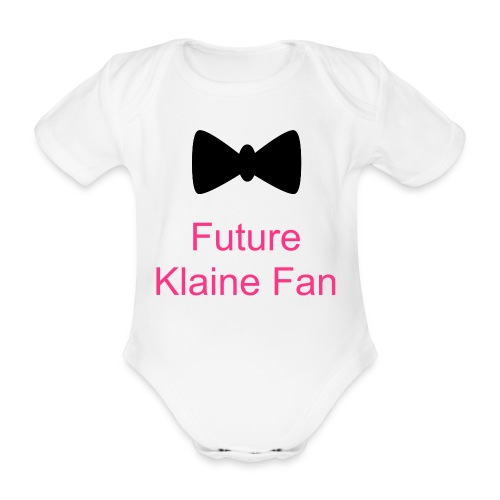 Future Klaine Fan Bow Tie - Organic Short-sleeved Baby Bodysuit