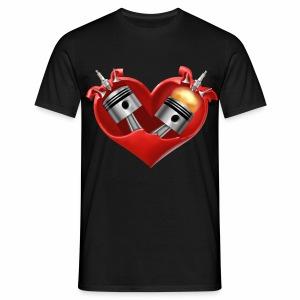 Biker's Heart - Men's T-Shirt