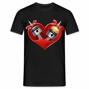 Biker's Heart - Men's T-Shirt