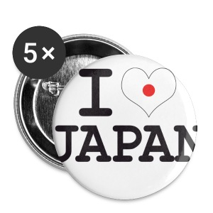 I_Love - Buttons mittel 32 mm