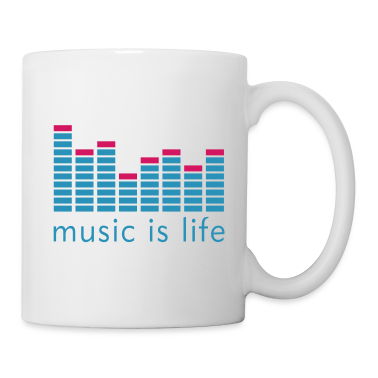 Music is life Equalizer / Music is life equaliser Mugs