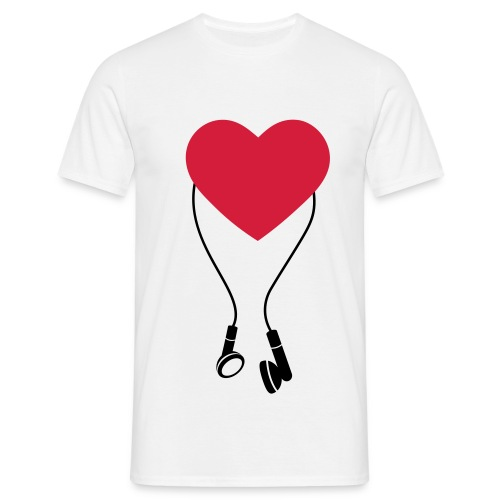 Heart Beats Large - Men's T-Shirt