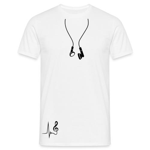 Tee-shirt homme écouteurs - T-shirt Homme