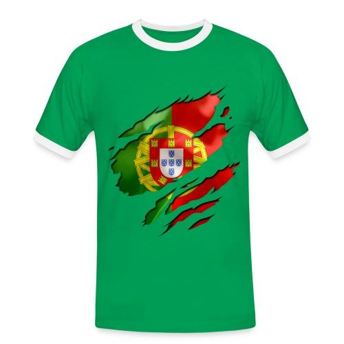 Tee-shirt homme Portugal - T-shirt contrasté Homme