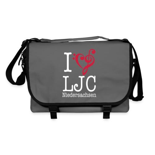 I♥LJC, Tasche grau - Umhängetasche