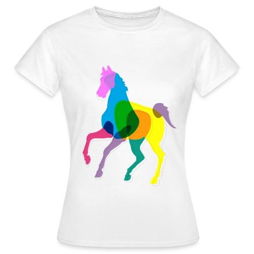 Naisten valkoinen heppa-paita - Naisten t-paita
