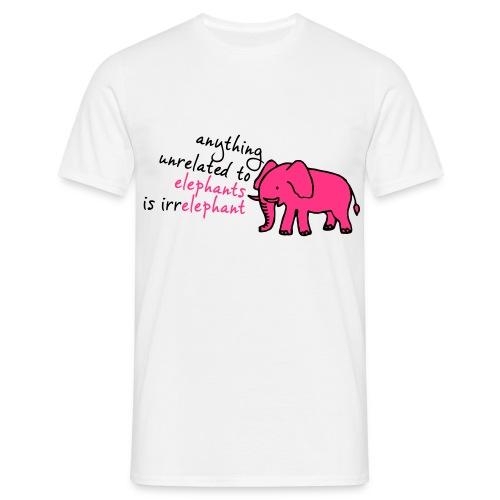 Funny T-shirt Irr-Elephant - Mannen T-shirt