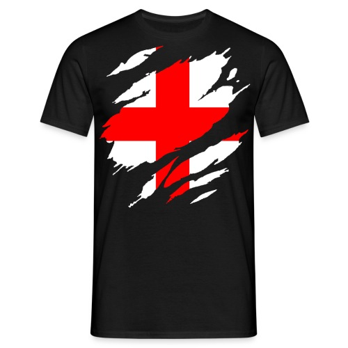 Men's T-Shirt - T-Shirt with Torn Effect St. George Flag
