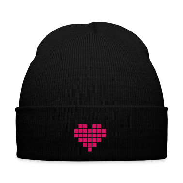 Pixel Love / pixel heart Caps & Hats