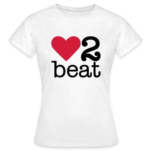 Vrouwen T-shirt - Heart2Beat shirt van team Isabelle, team rood. The ultimate dance battle!