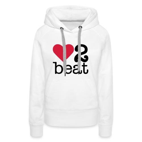 Vrouwen Premium hoodie - Heart2Beat sweater van team Isabelle, team rood. The ultimate dance battle!