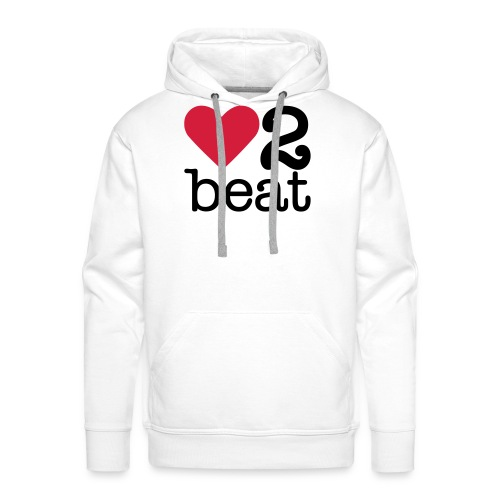 Mannen Premium hoodie - Heart2Beat sweater van team Isabelle, team rood. The ultimate dance battle!