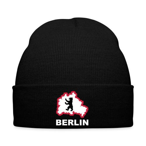 Berliner Bär Hauptstadt Bundestag Fernsehturm Tor Stadtkarte Map - Wintermütze