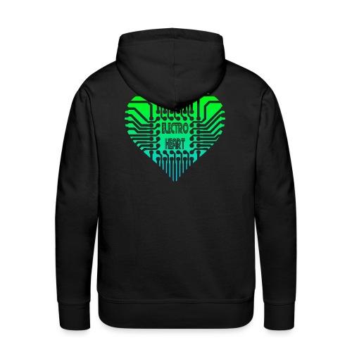 Electro Heart - Sweat-shirt à capuche Premium pour hommes