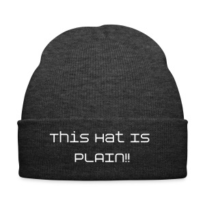 This hat is plain - Winter Hat