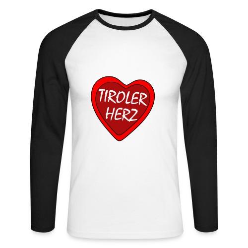 Tiroler Herz - langärmeliges Baseballshirt - Männer Baseballshirt langarm