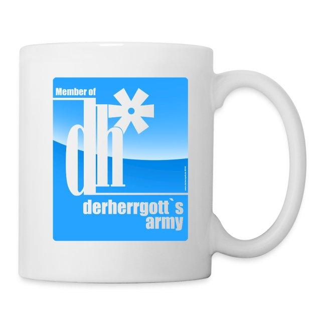 """Official Kaffeetasse of """"derherrgott`s Army"""""""