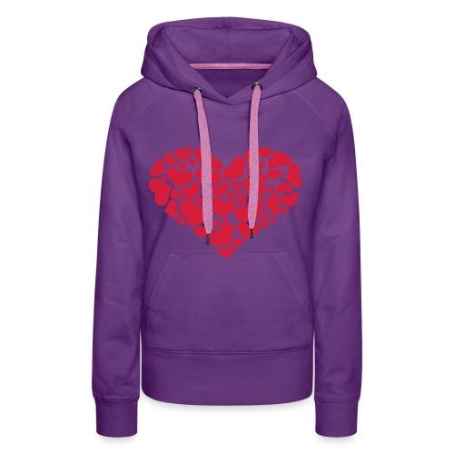 Vrouwensweater met capuchon. Heart. - Vrouwen Premium hoodie