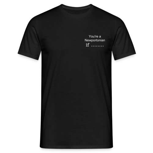NPINIMK  You're a Newportonian if ........  - Men's T-Shirt