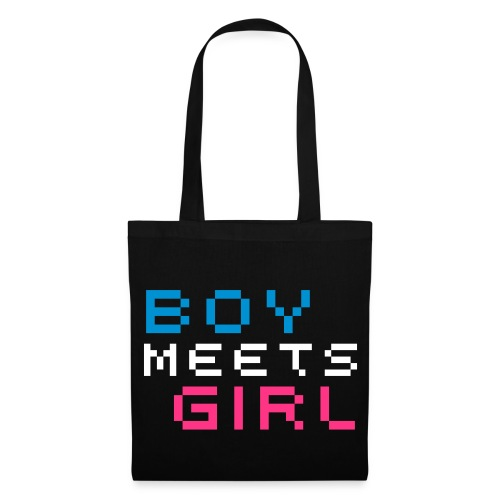 Boy Meets Girl Tote Bag - Black - Tote Bag