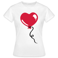 T-shirts ~ Vrouwen T-shirt ~ Hart Ballon