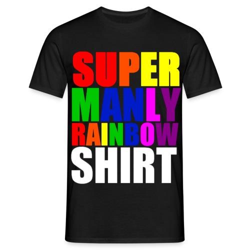 Super Manly Black Shirt - Men's T-Shirt