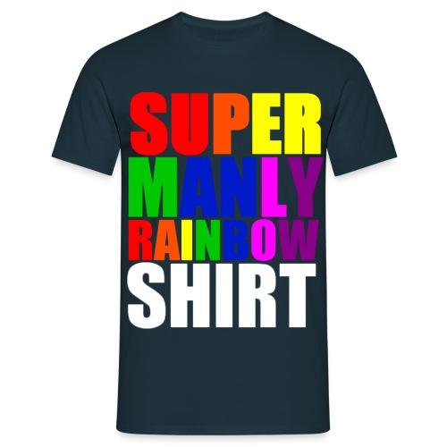 Super Manly Navy Shirt - Men's T-Shirt