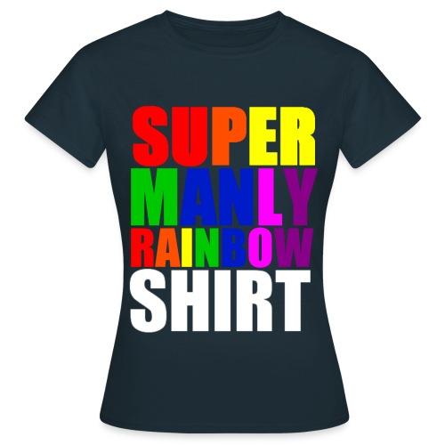 Super Manly Navy Women's Shirt - Women's T-Shirt