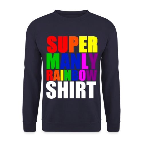 Super Manly Navy Sweatshirt - Men's Sweatshirt