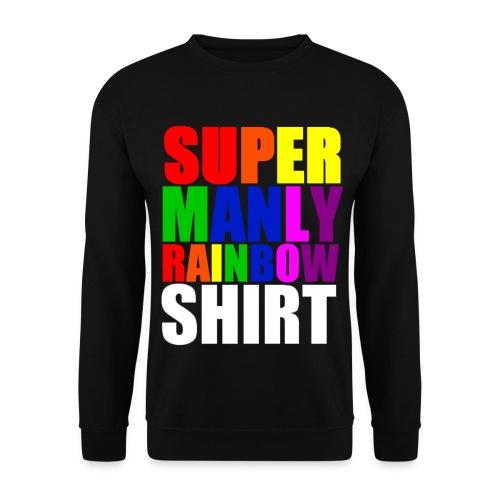 Super Manly Black Sweatshirt - Men's Sweatshirt