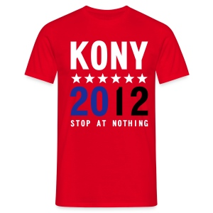 KONY 2012 STOP AT NOTHING - Men's T-Shirt