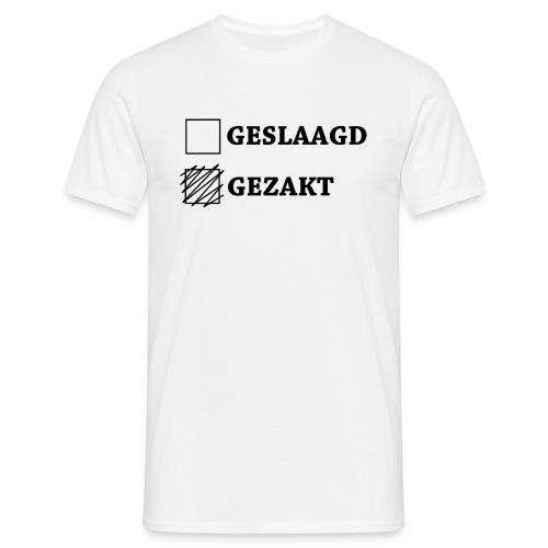 Mannen T-shirt - Shirt met het vakje gezakt aangekruist.