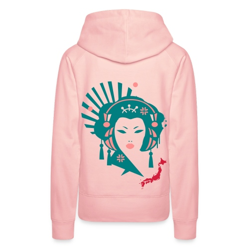 geisha femme  - Sweat-shirt à capuche Premium pour femmes