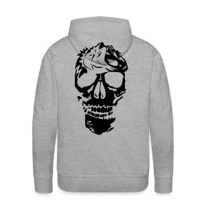 tribal tete mort lion dead head2 Sweat-shirts - Sweat-shirt à capuche Premium pour hommes