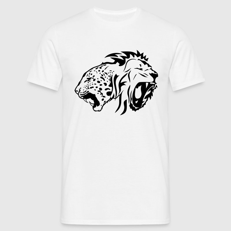 lion leopard tribal tete sauvage rugit Tee shirts - T-shirt Homme