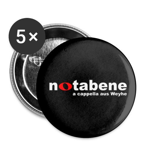 notabene Button klein (25 mm) - Buttons klein 25 mm (5er Pack)