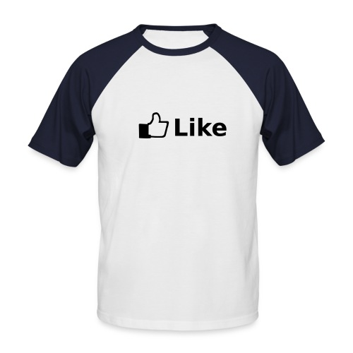 Facebook - Männer Baseball-T-Shirt