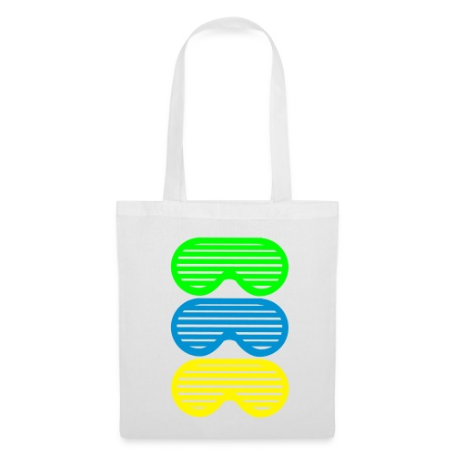 Cabas Sunglasses Vert&Blanc - Tote Bag