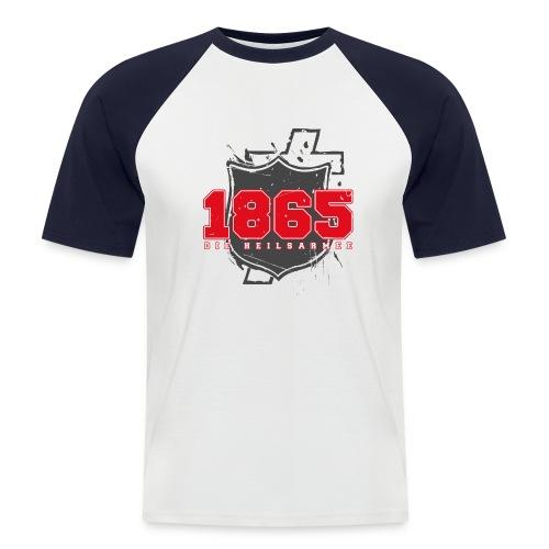 1865 (rot/grau) - Männer Baseball-T-Shirt