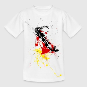 Deutschland Fan-Shirt - Farbspritzer Kinder T-Shirts - Teenager T-Shirt