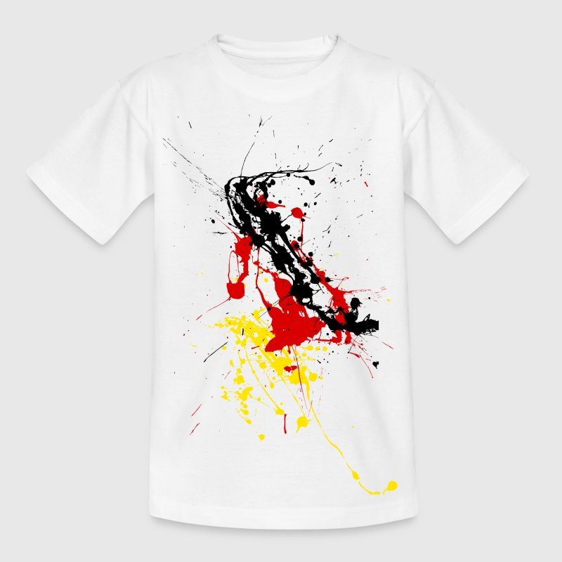 T-shirt Supporter Allemagne - taches de couleur Tee shirts Enfants - T-shirt Ado