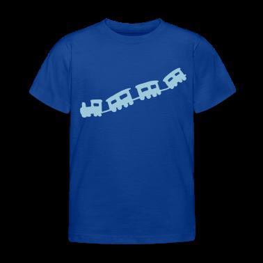 Bleu royal train Tee shirts Enfants