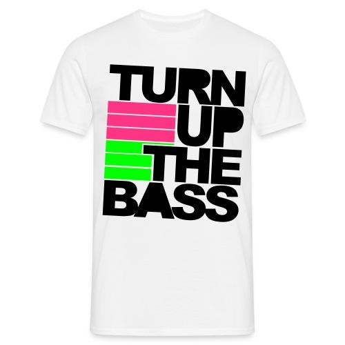Turn Up The Bass  Raver Shirt. - Männer T-Shirt